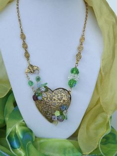 Vintage Jewelry Assemblage Necklace titled THE by thejeweledmink, $75.00