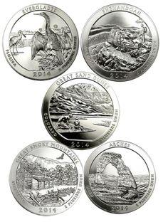 "Mint /""BU/"" ATB series 2014 P Smoky Mountain Tennessee Quarter ROLL U.S"