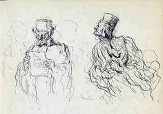 Honoré Daumier  - Abogados en conversación