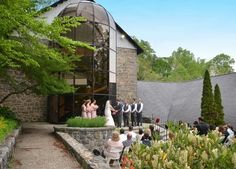 DELAWARE: THE HAGLEY MUSEUM SODA HOUSE  Just think of the entrance you'll make coming down the spiral staircase—meeting your groom in a French heirloom garden—at this elegant wedding venue, originally constructed in 1888.
