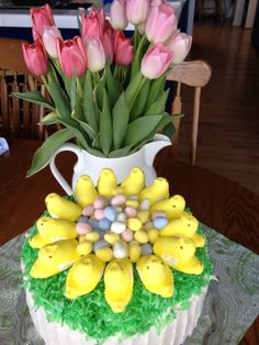 Easy spring cake I made for a co-worker's birthday...