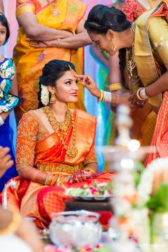 From Friends To Forever! The Engagement Story Of Janani And Harish South Indian Weddings, South Indian Bride, Indian Bridal, Bridal Blouse Designs, Saree Blouse Designs, Bridal Looks, Bridal Style, Tulsi Silks, Engagement Stories