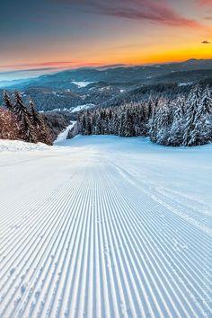 Ski Run, Pamporovo, Bulgaria photo via beth