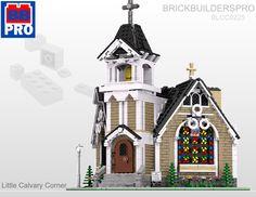 Little Calvary Corner Church PDF Lego Instructions Lego Christmas, Xmas, Lego Winter Village, Model Shop, Lego Modular, Printable Pictures, Lego Architecture, Lego Projects, Lego Stuff