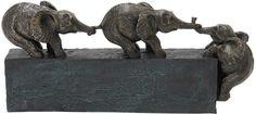 "Bayden Hill Ps Elephant Tbl Decor 17""W, 8""H"