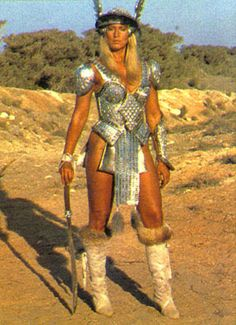 Sandahl Bergman as Valeria in Conan the Barbarian Fantasy Female Warrior, Warrior Girl, Warrior Princess, Fantasy Women, Warrior Women, Red Sonja, Fantasy Movies, Fantasy Characters, Sandahl Bergman