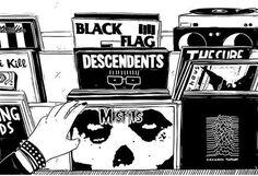 Imagens Transantes do Dia #BlackFlag #Descendents #Bikini Kill #JoyDivision #Misfits