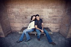 Couple together on a bench - Jeremy Gilliam