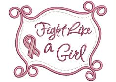 Doodle Frame - Fight Like A Girl - 4 Sizes! | Words Applique Machine Embroidery Designs | Machine Embroidery Designs | SWAKembroidery.com