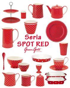Ponadczasowe wzornictwo w serii Spot Red - Green Gate. www.malowanebiela.pl
