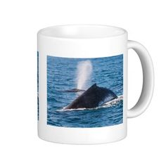 This coffee mug shows a pair of Humpback whales taking a breather on the surface in the waters off Surfers Paradise, Australia during their annual migration. #whale #whales #humpback #humpbacks #nature #wildlife #humpbackwhale #blowhole #ocean #sea