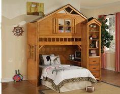 Tree house style rustic oak finish wood kids loft bed bunk bed set ACM http://www.amazon.com/dp/B00IBM9PLE/ref=cm_sw_r_pi_dp_N-Wbub10B7N9Q