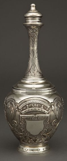 Image of A CONTINENTAL SILVER COVERED BOTTLE, possibly Portugal, circa | LotID #59011 | Heritage Auctions