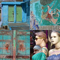 Maryandpatch, India Mosaic every Saturday on the blog, some color inspiration!...Maryandpatch.blogspot.com