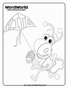 Ant Wordworld Coloring Pages Sketch Page
