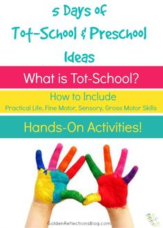 Not sure where to begin with tot-school or preschool for your child? Come check out this great series as a resource for your homeschool preschool! | www.GoldenReflectionsBlog.com