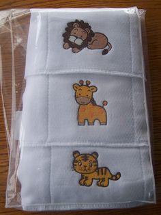Best Diaper for Burp Cloths | Embroidered cloth diaper Burp Cloths - lion tiger giraffe