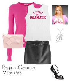 """""""Regina George: Mean Girls Series"""" by abigailxoxoxo ❤ liked on Polyvore featuring Oasis, HUGO, Steve Madden, Prada and Bling Jewelry"""