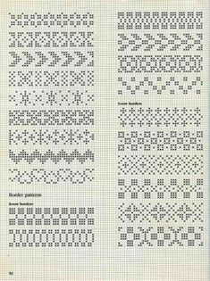 "Photo from album ""Alice Starmore Book of Fair Isle Knitting"" on Yandex. Motif Fair Isle, Fair Isle Chart, Fair Isle Pattern, Fair Isle Knitting Patterns, Knitting Charts, Knitting Stitches, Loom Knitting, Free Knitting, Cross Stitch Borders"