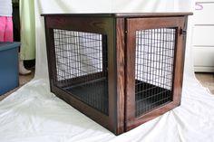 Amish Made Wooden Dog Crate LARGE by AmishMadeDogCrates on Etsy
