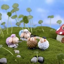 4x Miniature Sheep Dollhouse Bonsai Garden Landscape Decoration