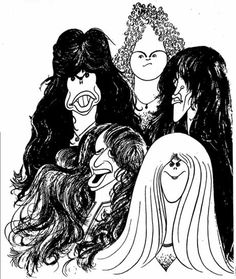AEROSMITH BY AL HIRSCHFELD....