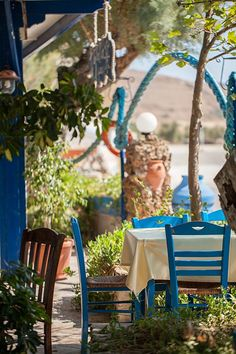 Taverna in Moudros, Limnos Island , Greece Samos, Beautiful Islands, Beautiful Places, Amazing Places, Places Around The World, Around The Worlds, Places To Travel, Places To Visit, Greek Blue