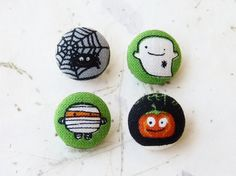 Haunted House Fabric Buttons