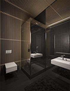 Understated elegance, minimalist bathroom in Kiev by Sergey Makhno _