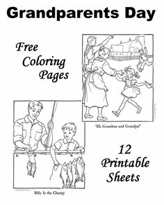 Grandparents Day coloring pages!