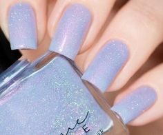 Pastel blue polish
