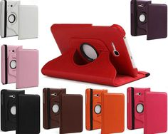 "1Pc 360 Rotating PU Leather Stand Case Cover for Samsung Galaxy Tab 3 Lite 7.0"" T110+Free Shipping"