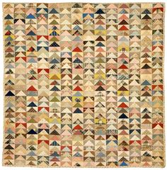flying geese quilt by Mary & Nell  Kelleher, 	[1930s] New England Quilt Museum