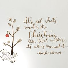 It's not what's under the Christmas tree that matters. It's who's around it.