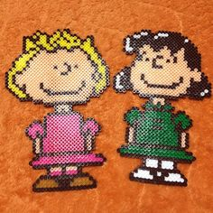 Sally & Lucy - Peanuts perler beads by achiya928