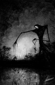 Dark and beautifully done piece creepy drawings, dark art drawings, demon artwork, horror Creepy Drawings, Dark Art Drawings, Creepy Art, Dark Artwork, Demon Artwork, Creepy Paintings, Creepy Pics, Arte Horror, Horror Art