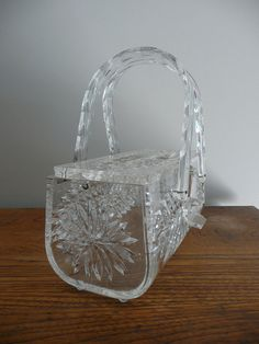 Lucite Purse 1950's  -  I have a similar purse.  I carried it for my daughter, Linda's wedding.