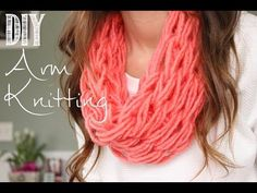 ▶ How to Arm Knit a Single Wrap Infinity Scarf in 20 Minutes with Simply Maggie - YouTube