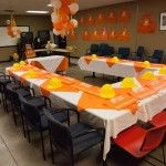Set Up For Home Depot Construction Birthday Party