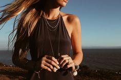 that Santorini golden glow ✨ #charmesilkiner #adonia #greece #santorini #jewelry #summer
