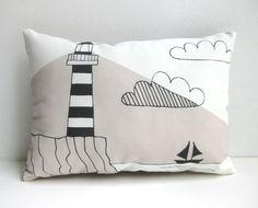 Lighthouse Cushion Lighthouse Throw Pillow Lighthouse Pillow Decorative Cushion Decorative Pillow