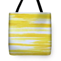 "Abstract Art Tote Bag featuring the painting ""Sunny Side Up"" by Lynn Tolson, bold & cheerful #ToteBag #Purse #YellowToteBag #YellowFashionAccessories #YellowFashion #SpringFashion #AbundantArts"