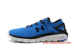 wholesale dealer ad4a7 1a7e6 UA SpeedForm Fortis Blue White Black Under Armour Training Running Shoes