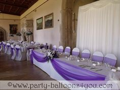 decorating with two colors of tulle | Wedding Balloons Fresh & Silk Flowers Pew End Bows Chair Cover Hire ...