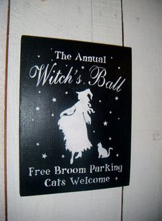 Halloween SignHalloween Decoration Witch Sign by AndTheSignSays, $22.00