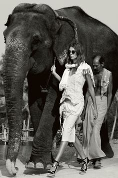 Daria Werbowy by Patrick Demarchelier for Vogue UK, June 2009, Kerala, India