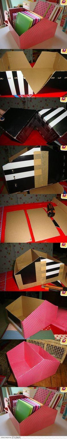 Para guardar los recortes de papel
