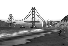 This group of fishermen enjoying a view of the Golden Gate Bridge under construction in 1930s.   25 Incredible Pictures That Will Change Your View Of History