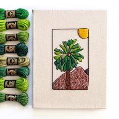 Modern embroidery by @jenannhandmade using DMC Tapestry Wool. Head over to DMC.com to shop our 390 colors of Tapestry Wool! Light Colors, Colours, Modern Embroidery, Botanical Art, Canvas Size, Needlepoint, Orange Color, Embellishments, Tapestry