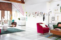 Easy DIY: Painting the floor creates separate 'rooms' without walls - Chicago Shopping